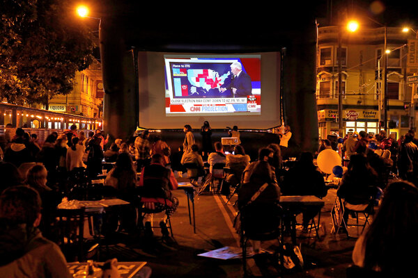Election night in San Francisco.