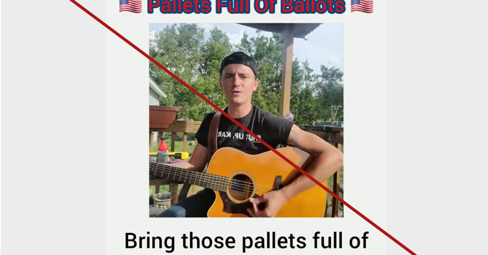 No, the 'Pallets Full of Ballots' song is not true.