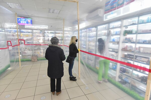 At a pharmacy in Lviv, Ukraine, in March. The potential overuse of antibiotics in the country — where they are available without a prescription — has concerned public health officials.