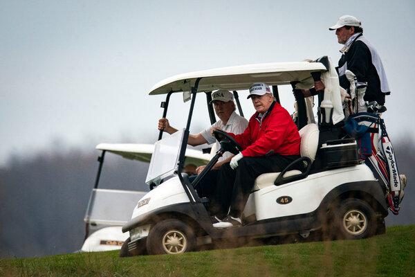 President Trump at Trump National Golf Club, in Sterling, Va., on Saturday.