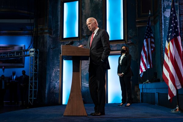 """President-elect Joseph R. Biden Jr. has repeatedly expressed frustration at what he calls the """"embarrassment"""" of Mr. Trump's refusal to accept defeat."""