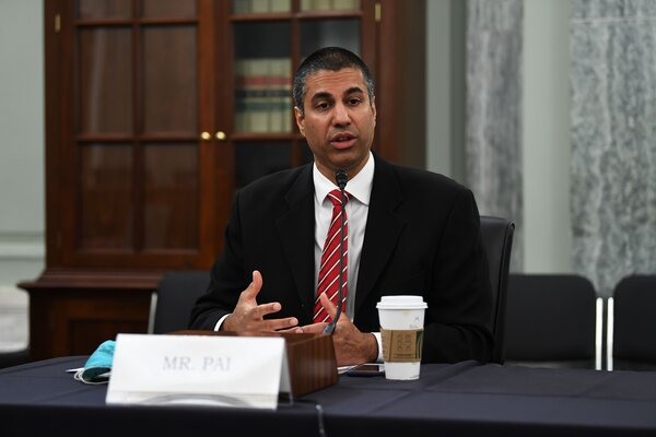 Mr. Pai's most prominent effort was rolling back net neutrality rules.