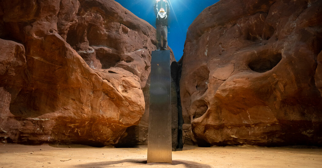 Earthlings, It Seems, Not Aliens, Removed the Utah Monolith