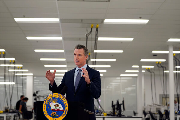 Gov. Gavin Newsom of California faces extraordinary crosscurrents of factional rivalry and identity politics in a state where the Democratic Party is thoroughly defined by both.