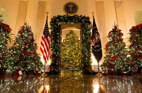 "The White House Christmas decorations are themed ""America the beautiful."" The holiday season is one area where the norm-breaking president appears intent on savoring tradition."