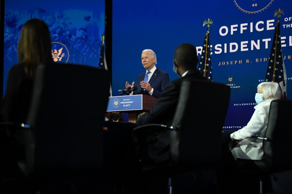 President-elect Joseph R. Biden Jr. announced members of his economic team during an event in Wilmington, Del., on Tuesday.