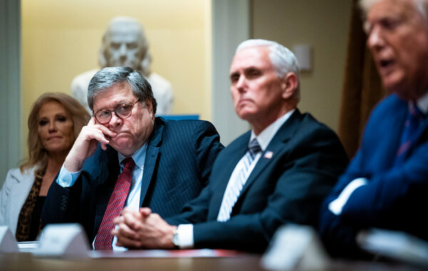 Attorney General William Barr during a meeting at the White House in June.