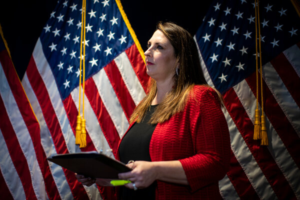 President Trump tapped Ronna McDaniel for her role in 2016, and publicly endorsed her for another term last month.