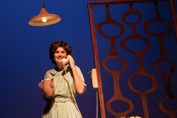 """Ellen Locy as the title character in """"Erma Bombeck: At Wit's End."""""""