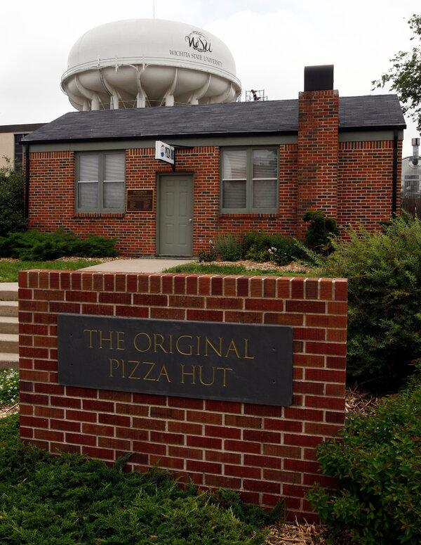The original Pizza Hut, which opened in downtown Wichita in 1958, now sits on the campus of Wichita State University, where Mr. Carney had been a student.