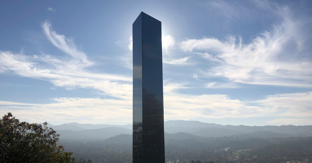 California Monolith Is Removed and Replaced With a Cross