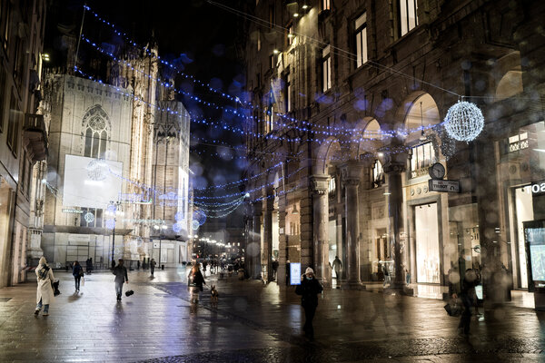 Christmas lights in Milan. Italy will limit movements between regions over the holidays.
