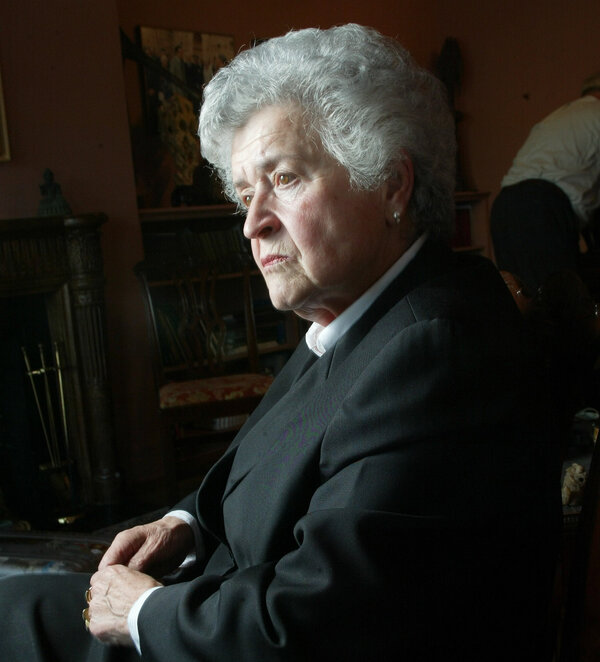 Irina A. Antonova, director of the Pushkin State Museum of Fine Arts in Moscow, during a visit to New York City in 2002, at the age of 80.