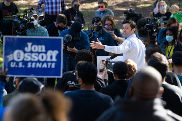 Jon Ossoff, a Democrat, is headed to a runoff election after Senator David Perdue of Georgia fell short of a majority he needed to win re-election.