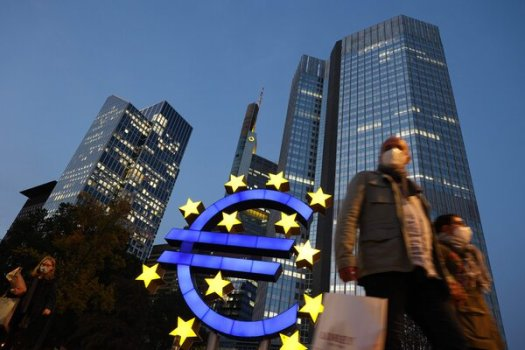 Outside the European Central Bank's former headquarters, in Frankfurt.