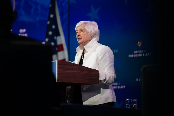 Janet Yellen, Mr. Biden's pick for Treasury secretary, has long argued for emissions reduction as an economic imperative.