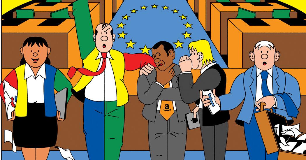 Big Tech Turns Its Lobbyists Loose on Europe, Alarming Regulators