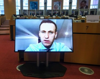 Aleksei Navalny, a Russian opposition leader, appeared by video during a hearing by the European Parliament's foreign affairs committee in November. The European Parliament strongly condemned the assassination attempt on Mr. Navalny.