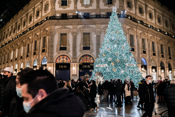 A subdued holiday spirit in Milan last week.