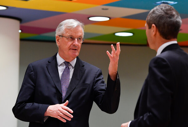 Michel Barnier, the chief Brexit negotiator for the European Union, on Tuesday. Talks on a trade deal with Britain are continuing as the Dec. 31 deadline nears.