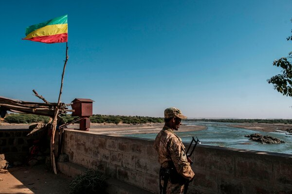At the border, in Humera, between Ethiopia and Eritrea. Two countries that once fought a bitter war now appear to be allied in a fight to subdue the Tigray region of Ethiopia.