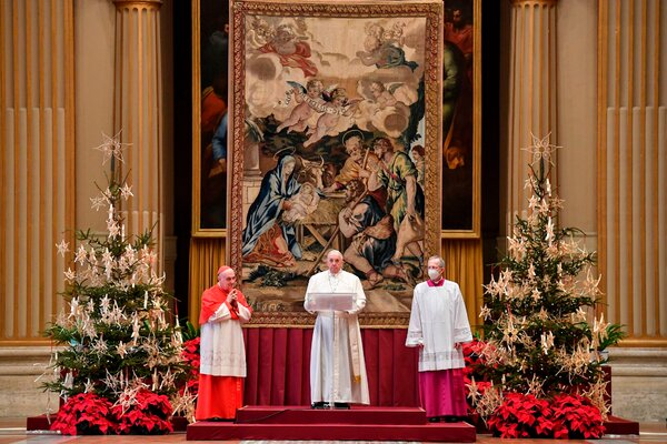 """""""I cannot place myself ahead of others, letting the law of the marketplace and patents take precedence over the law of love and the health of humanity,"""" Pope Francis said on Friday."""