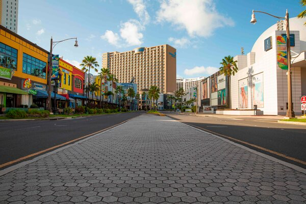 Guam's main tourism district of Tumon Bay was empty on April 10.