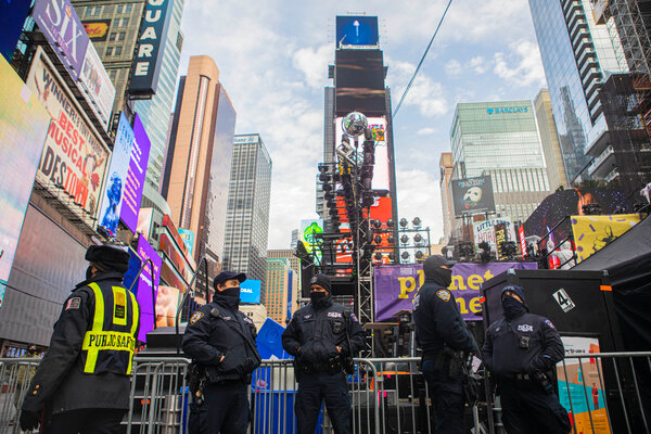 New Year's Eve preparations were well underway on Wednesday in New York City.