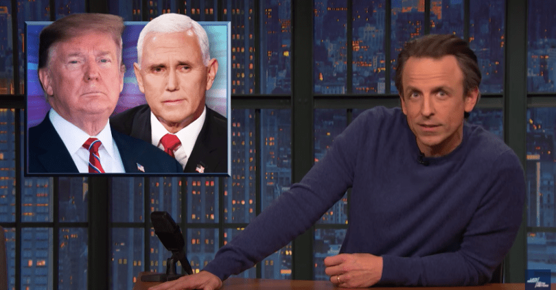 Late Night Wonders if Mike Pence Will Stand by His Man