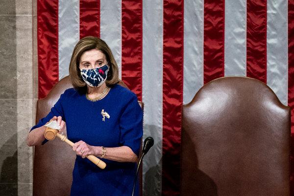 House Speaker Nancy Pelosi at the Capitol on Wednesday morning.