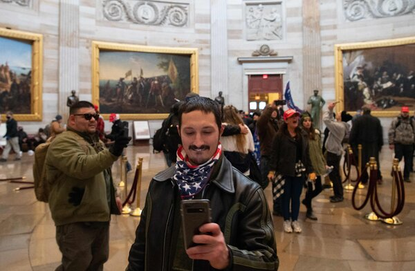 Supporters of Mr. Trump breached the Capitol rotunda.