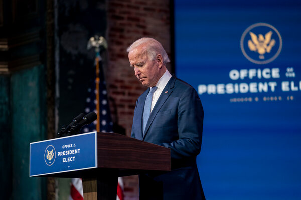 President-elect Joseph R. Biden Jr. on Wednesday rebuked the mob that stormed the Capitol.