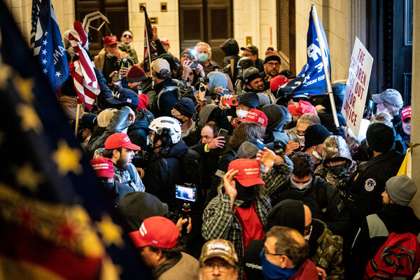 A mob acting in President Trump's name stormed the Capitol on Wednesday.