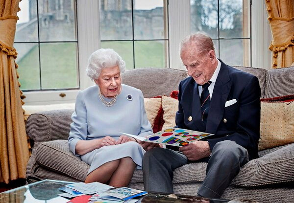 Queen Elizabeth II and Prince Philip in November, when they celebrated their 73rd wedding anniversary.