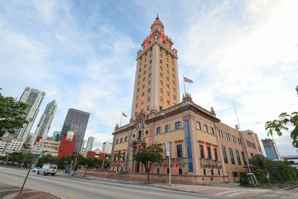 The Museum of Art and Design is housed in Freedom Tower, a landmark building in downtown Miami.