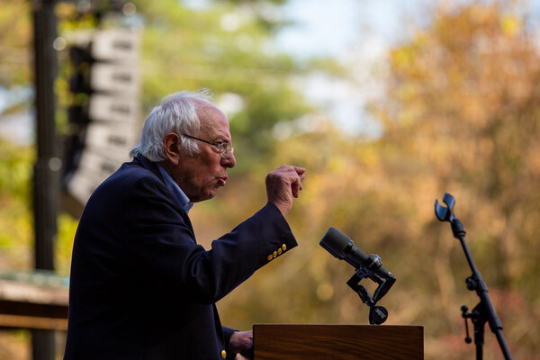 Senator Bernie Sanders of Vermont said he would move quickly in his new role to push through a robust and deficit-financed economic stimulus package.