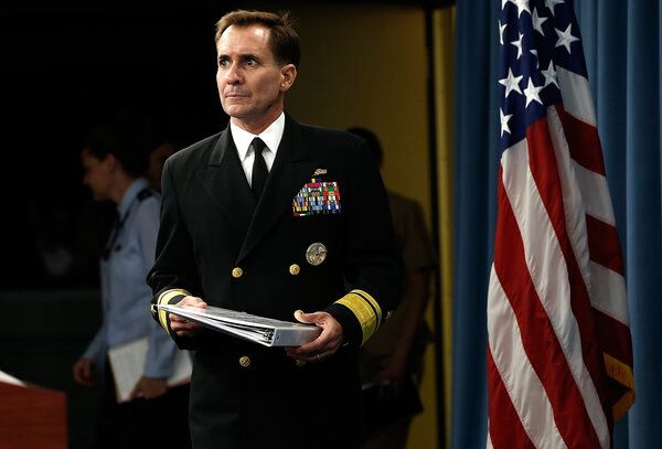 John F. Kirby, a retired Navy rear admiral, will be the Biden administration's Pentagon spokesman.