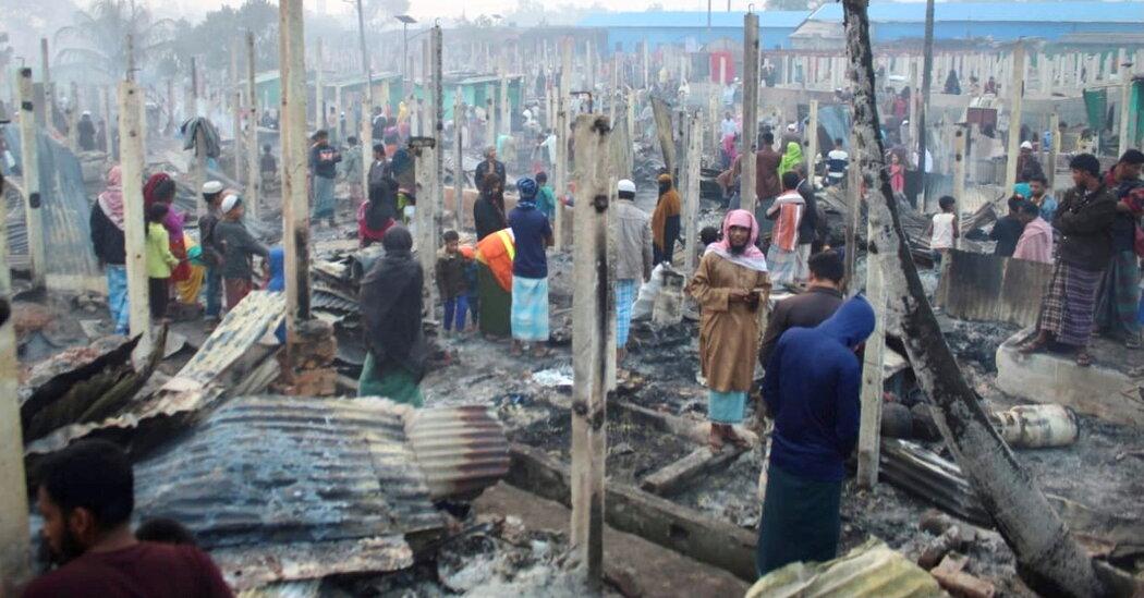 Rohingya Camp in Bangladesh Struck by Fire