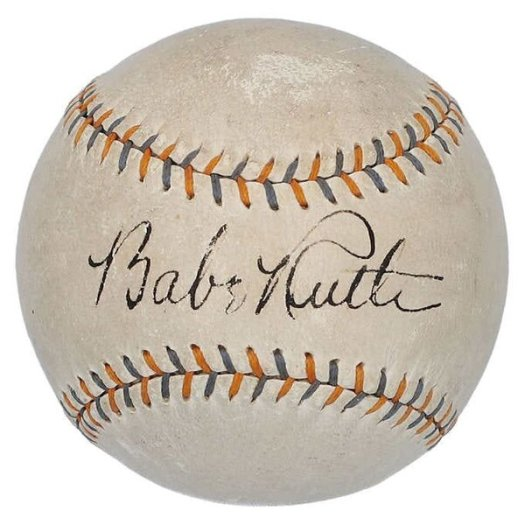 Costco is selling a baseball autographed by Babe Ruth on its website for $64,000.