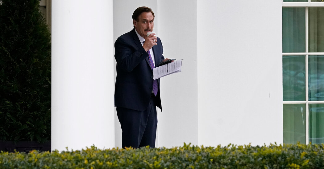 Photos Capture Notes From Mike Lindell's White House Visit