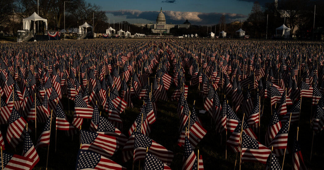 'Field of Flags' on the National Mall represents the people who cannot attend Biden's inauguration.