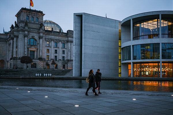 The government district in Berlin this month.Chancellor Angela Merkel was meeting with state governors on Tuesday about new lockdown rules.