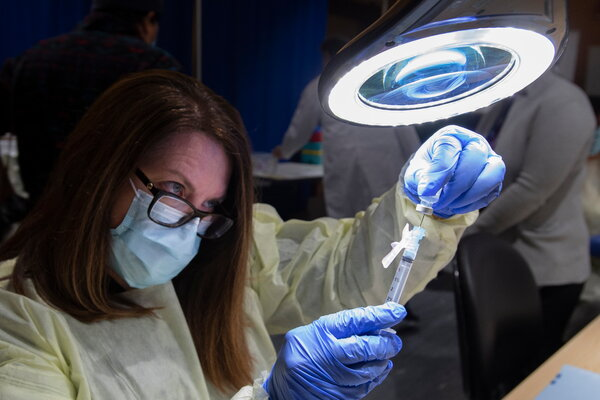 A dose of the Pfizer-BioNTech vaccine being prepared at the Michener Institute in Toronto earlier this month.
