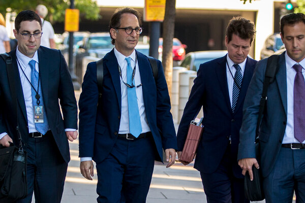 Andrew Weissmann, second from left, was a prosecutor who worked for the special counsel in the Russia investigation, Robert S. Mueller III.