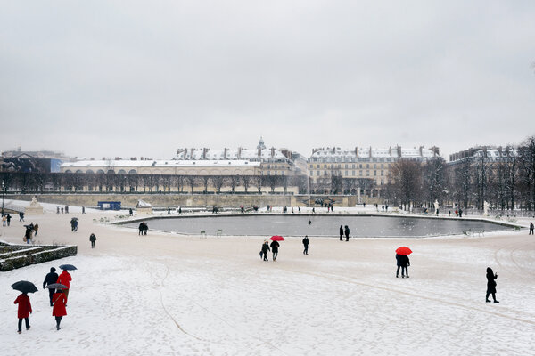 The Tuileries Garden in Paris last week before the 6 p.m. curfew.