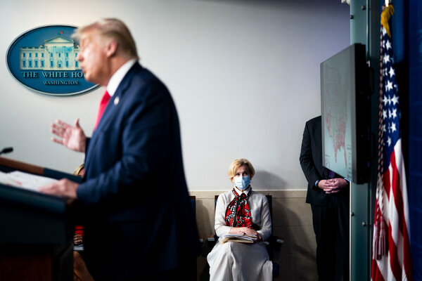 Deborah Birx, the Trump administration's coronavirus response coordinator, at a news conference at the White House in July.