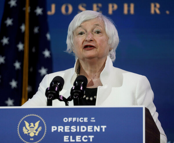 Ms. Yellen is the first woman to hold the top job at Treasury in its 232-year history.