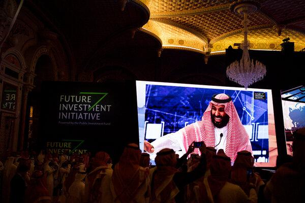 Crown Prince Mohammed bin Salman at the Future Investment Initiative in Riyadh, Saudi Arabia, in 2018.