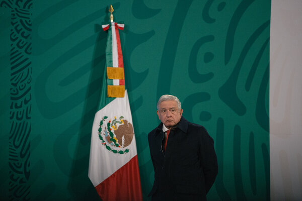 President Andrés Manuel López Obrador of Mexico this month. He disclosed on Sunday that he had contracted Covid-19.