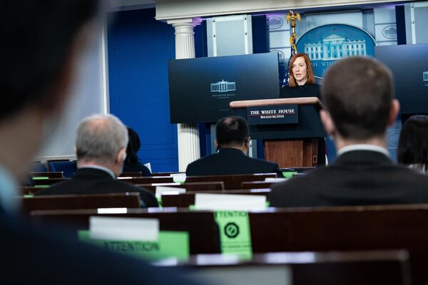 Jen Psaki, the White House press secretary, said the Biden administration was taking the step as part of its commitment to inclusivity.